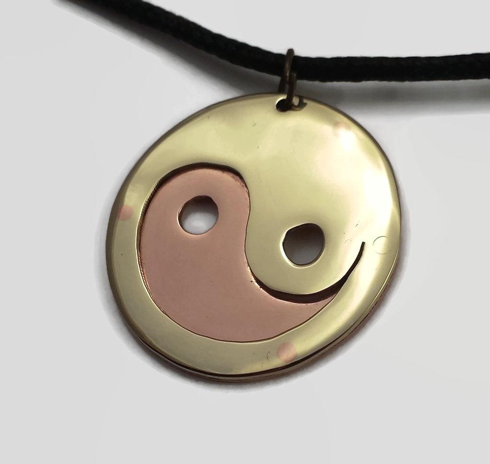 Yin yang pendant necklace the leaky crucible foundry yin yang pendant necklace aloadofball Choice Image