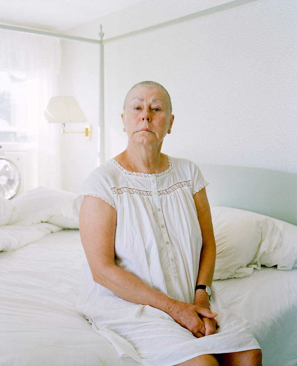 Gayle Bald in Nightgown