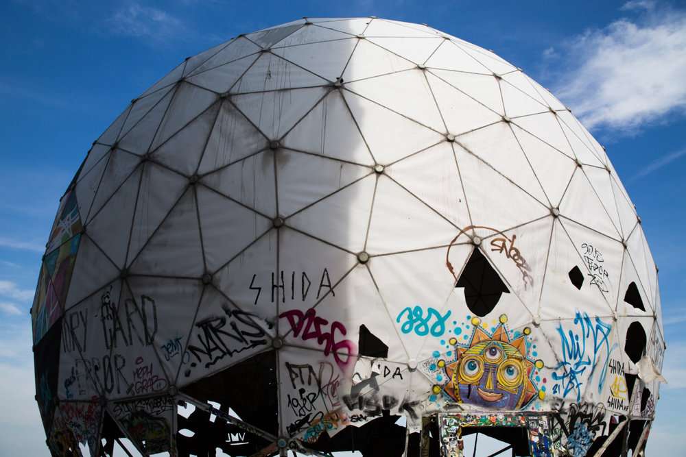 | the NSA was here |    An abandoned NSA spy station used during the Cold War and one of the most fascinating sites I've ever visited. Now it looks like Bushwick meets Hunger Games on steroids.    #teufelsberg    (at Teufelsberg Berlin)