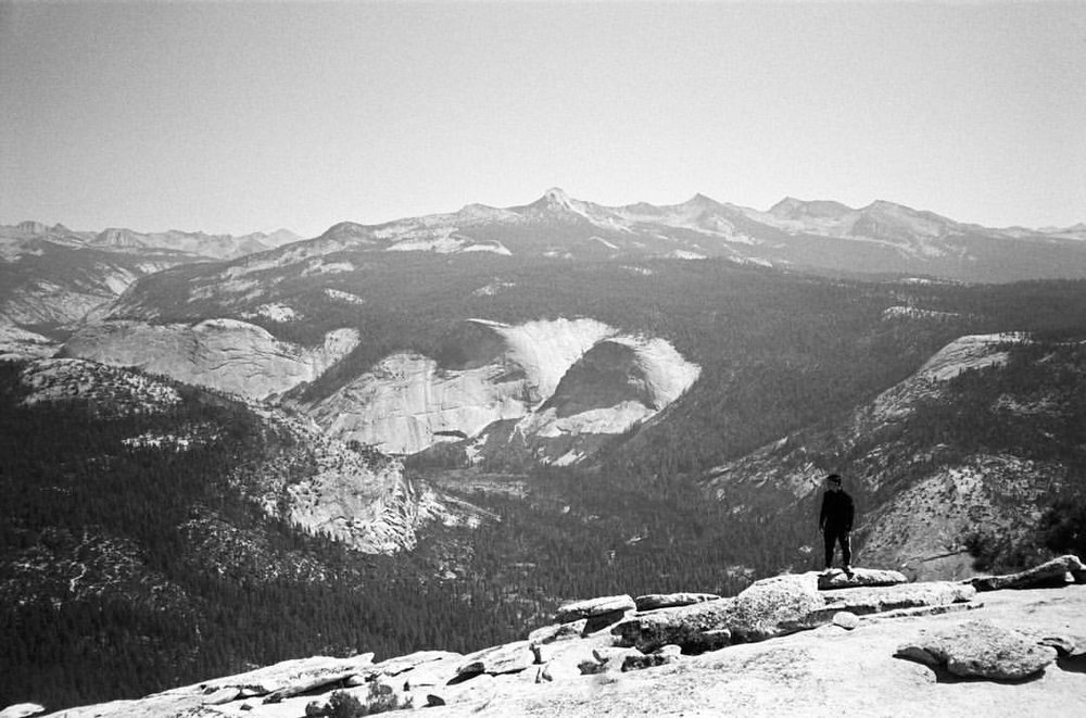 35 mm film photo of me on top of Half Dome by @matthewtmorgan     #filmisnotdead #justdothedomething    (at Half Dome Summit)