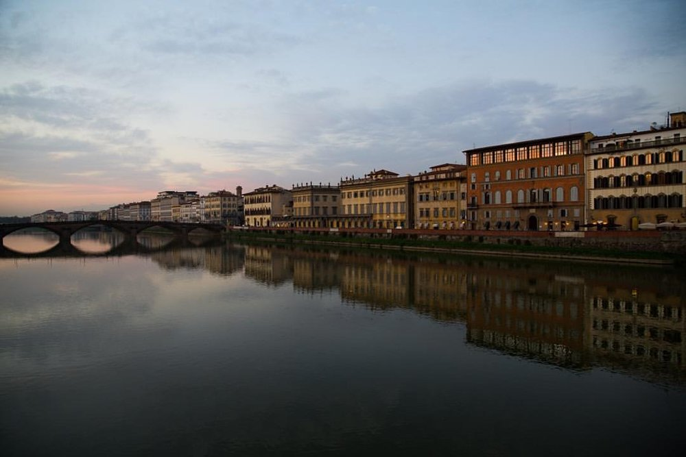 The Arno showing off again (at Florence, Italy)