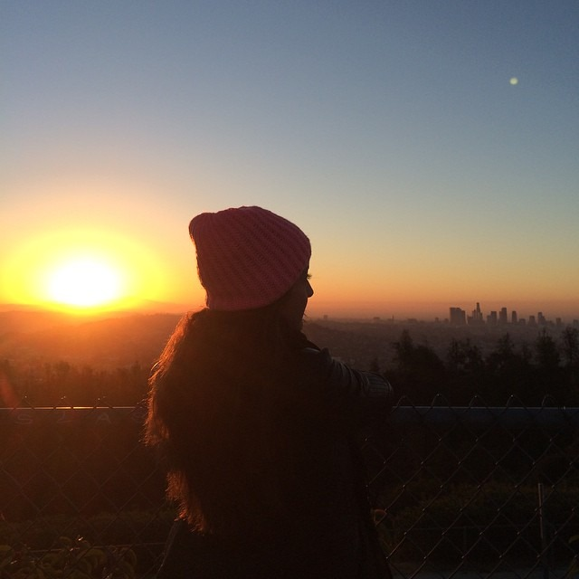 The first light of 2015 #happynewyear #losangeles ✌️ (at Griffith Observatory)