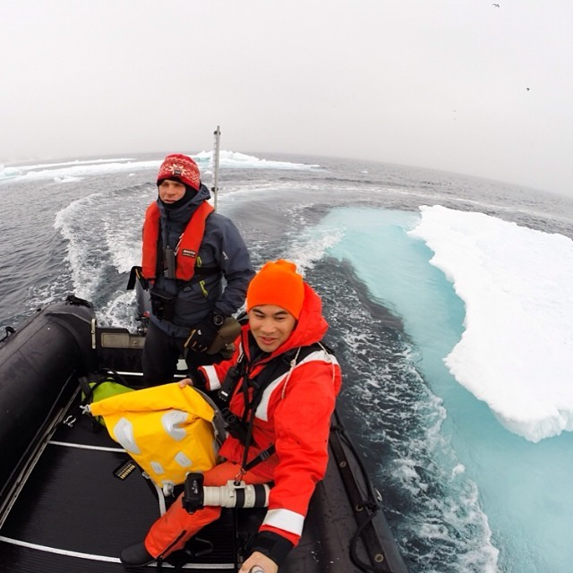 On a Zodiac expedition searching for polar bears and other wildlife in the Arctic #thisarcticlife (at Svalbard)