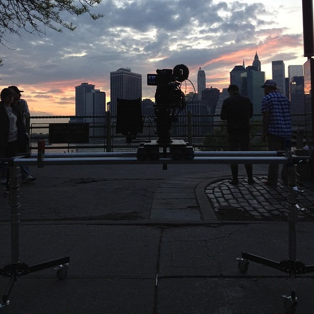 The #danadolly is smooth as silk. #magichour #nofilter #canon #C300 (at Brooklyn Heights)