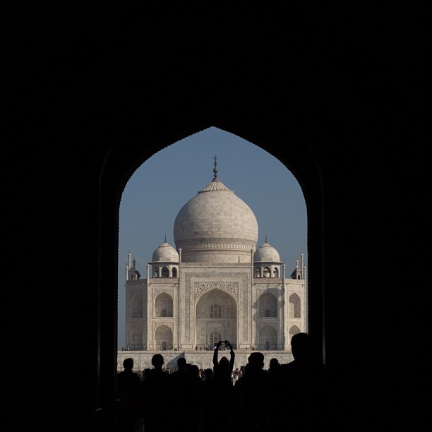 First sight (at Taj Mahal, Agra)