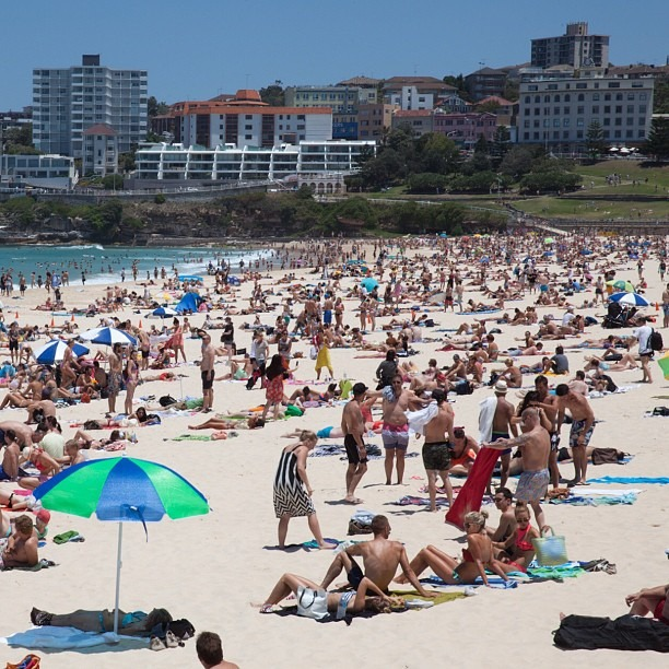 I wish there were more people here (at Bondi Beach)
