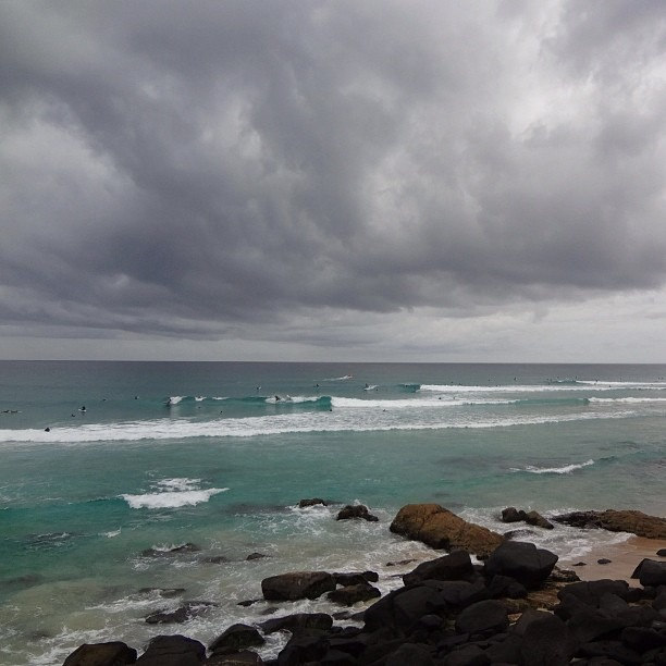 Superbank, where it's possible to ride a single wave 2 km from Snapper to Kirra (at Snapper Rocks Beach)