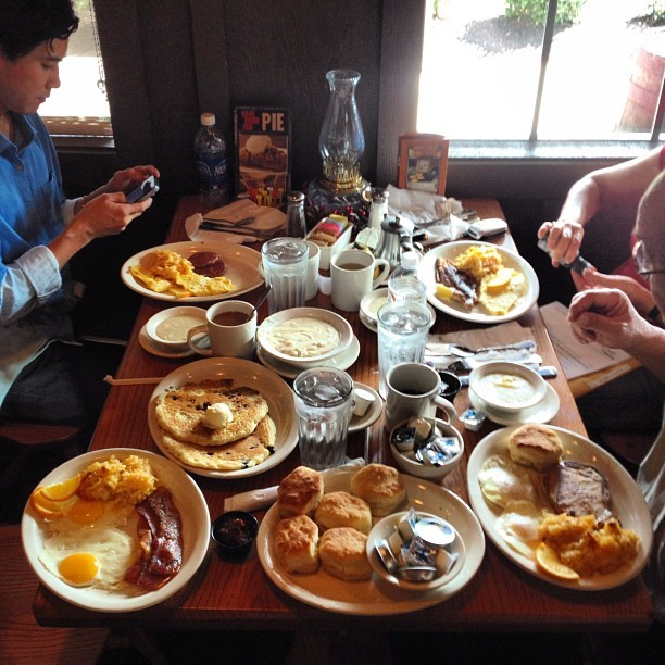 Experiencing southern hospitality at Cracker Barrel near Austin, TX (at Cracker Barrel)