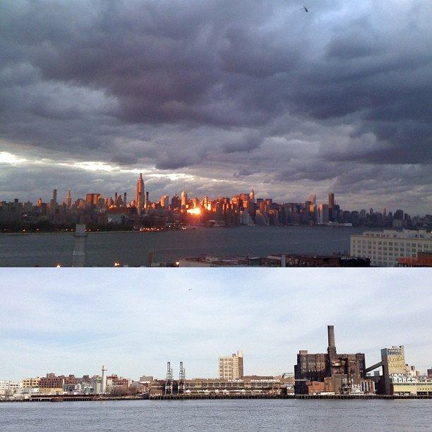 The view from both sides of the East River (Taken with Instagram at Esquire Building)