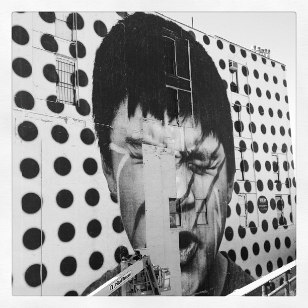 Beautiful, inspiring, engaging work @JR_artist @insideoutproj @highlinenyc (Taken with  instagram )