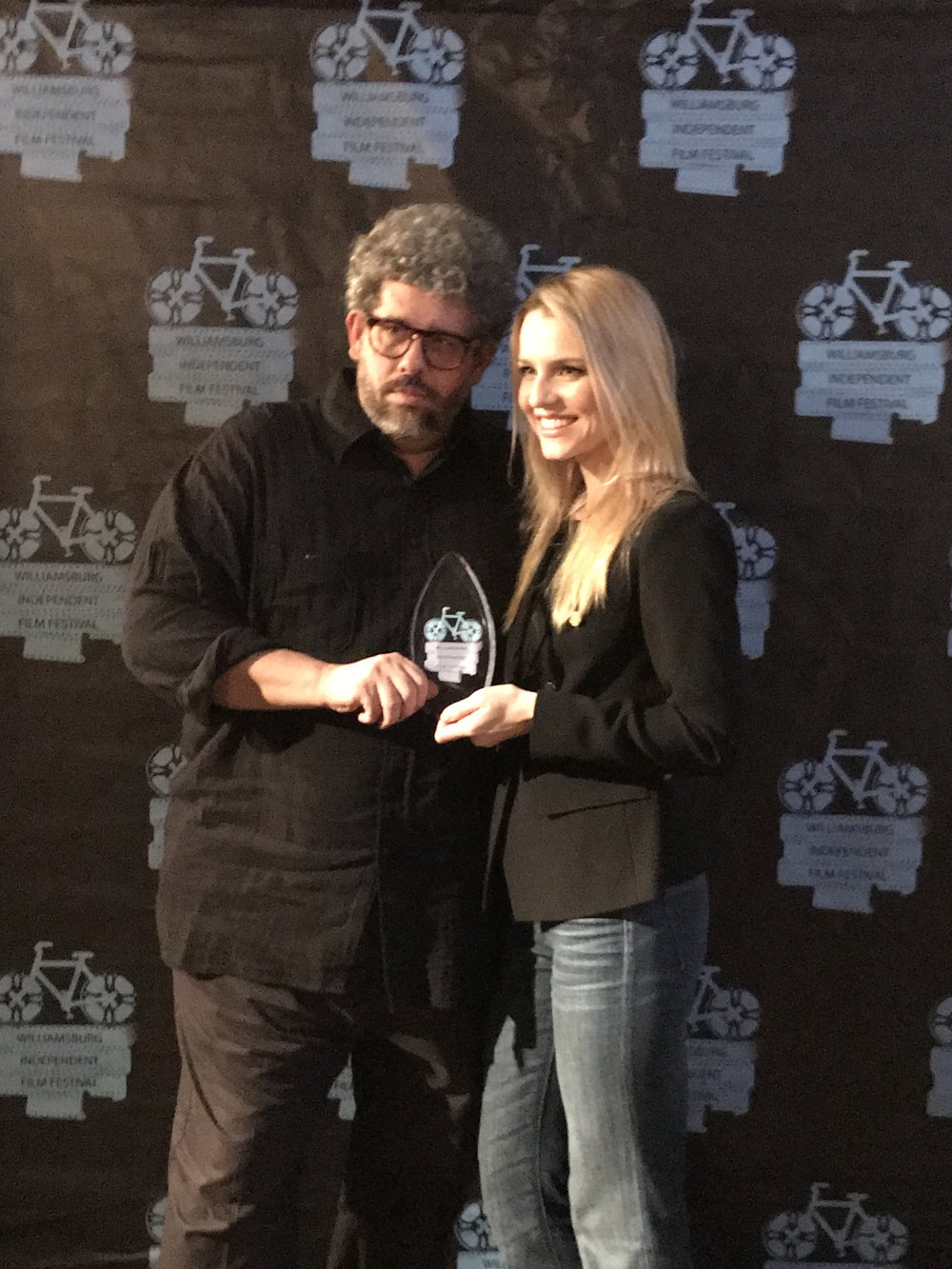 Neil LaBute and Gia Crovatin both won awards for their short film, Good Luck (in Farsi)