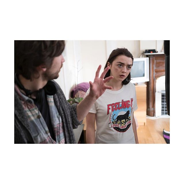 BTS on set with @maisie_williams and Director @marklobatto. Very special announcement happening on Saturday!