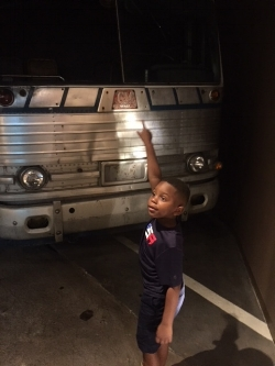 The Greyhound bus was probably the most touching exhibit for my son. He's a lover of all things that move, and he was captivated by the fact that people burned the bus down on purpose. He repeatedly asked if everyone made it out okay, and while I could tell that it made him sad, I think it made him feel good knowing that no one was killed in this particular act of hatred.