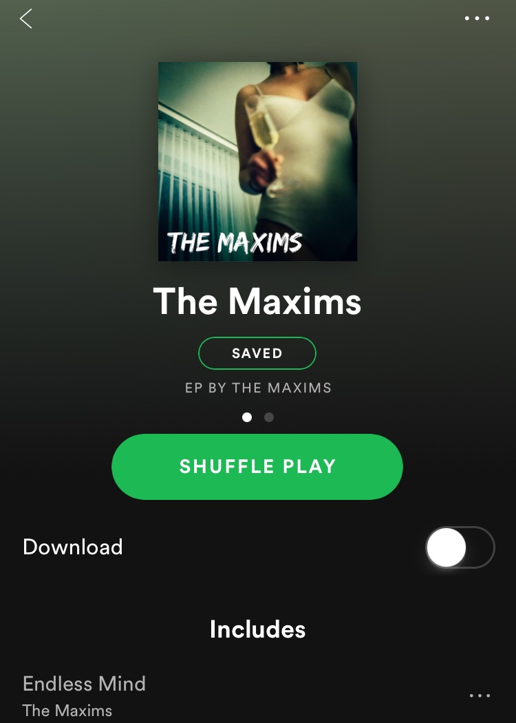 album cover art for boston band the maxims on spotify