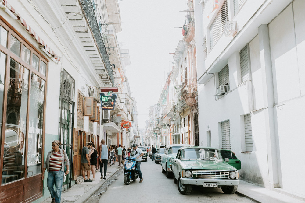 the busy streets of havana