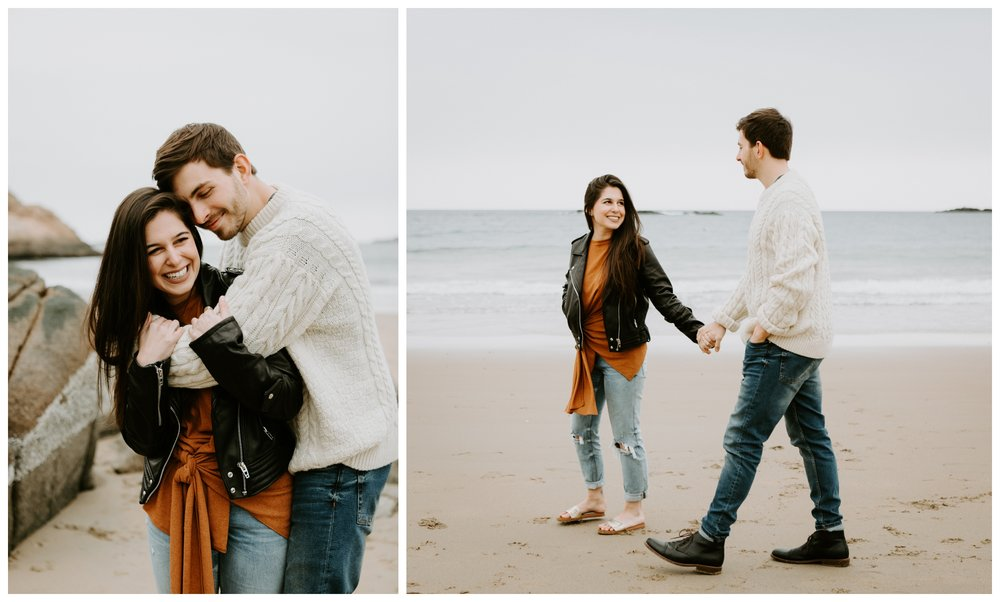 cute engagement session at beach