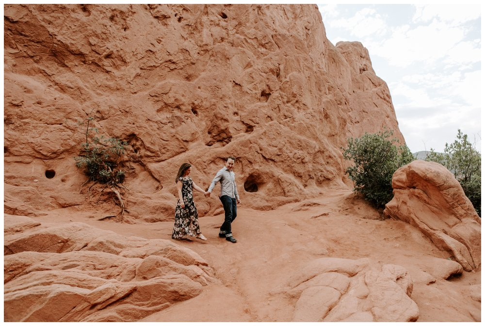 garden of the gods engagement