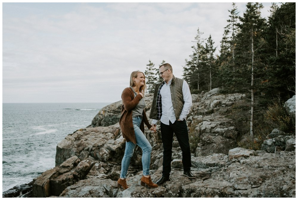 otter cliffs engagement