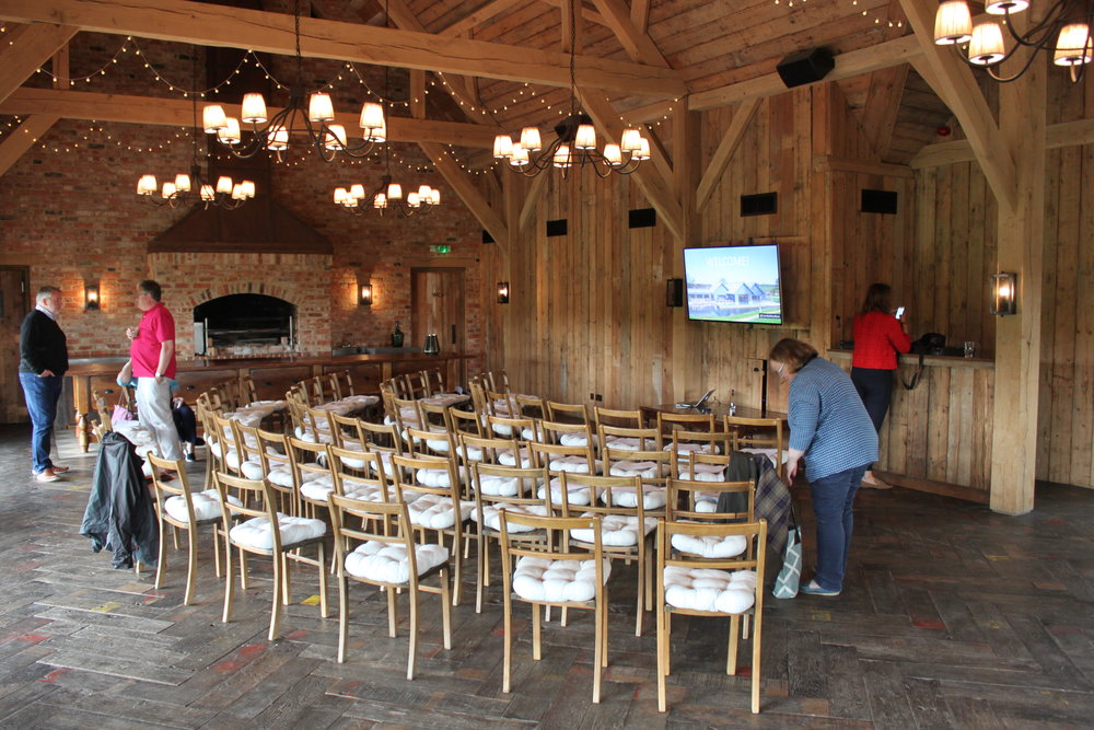 Please take a seat... - The beautiful barn venue was an excellent place of inspiration!