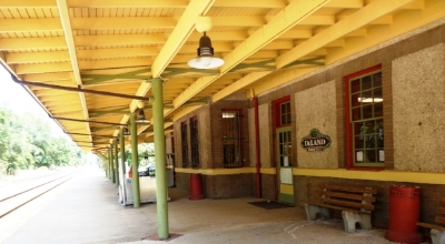 Painting Deland's Craftsman Style 1918 Train Station was an honor for the community.Listed as one America's Great Stations