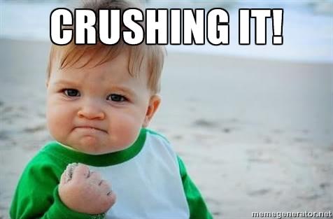 baby crushing it