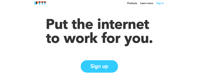 IFTTT has great UX design to learn from