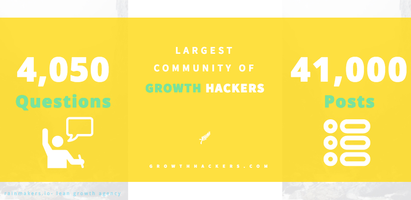 Growthhackers.com: the largest community of growth hackers