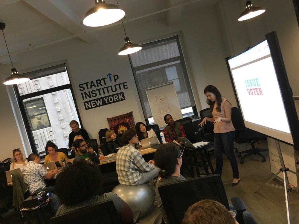 Startup Institute hackathon for IssueVoter