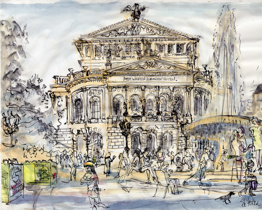 Alte Oper Frankfurt, Opernspiele 2018 (auch als Postkarte erhältlich))