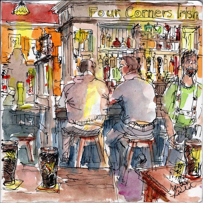 Irish Pub Three Corners, Frankfurt, 2018