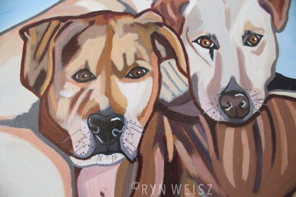 """Charlie & Gypsy"" - close up."