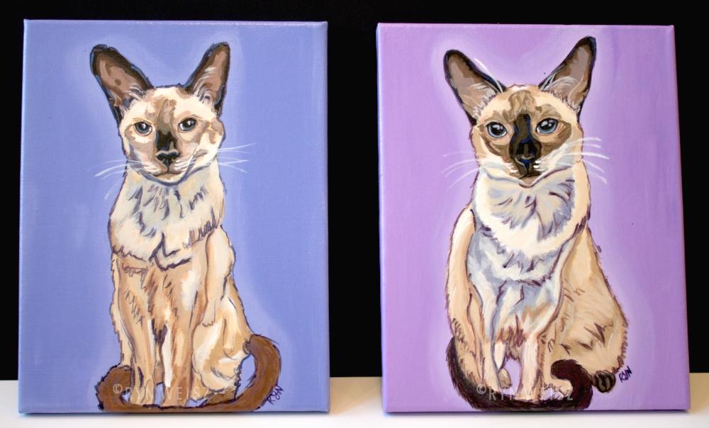11 x 14 in. (each) Acrylic on Canvas