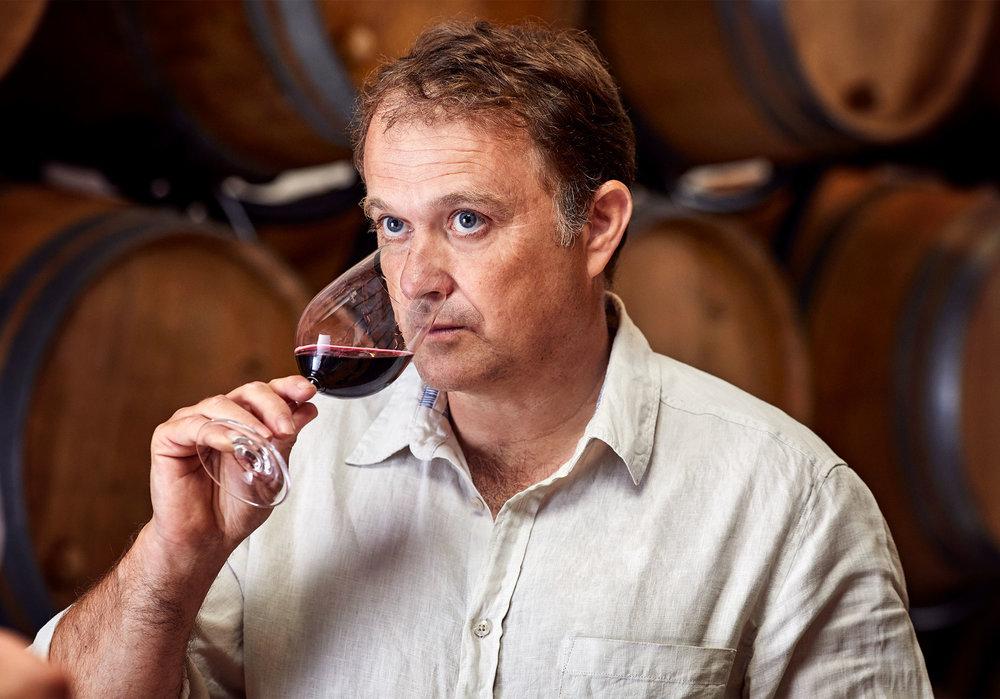 Eric Boissenot sampling a bespoke VINIV wine