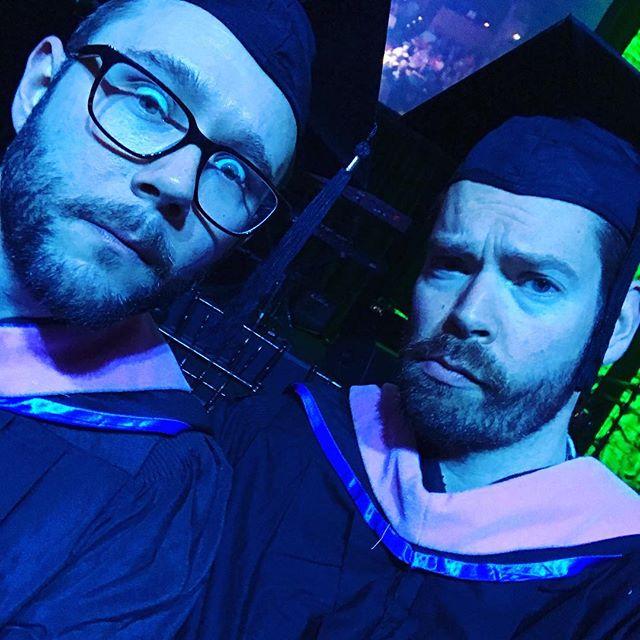 Adulting super hard, graduation style. #professorlife