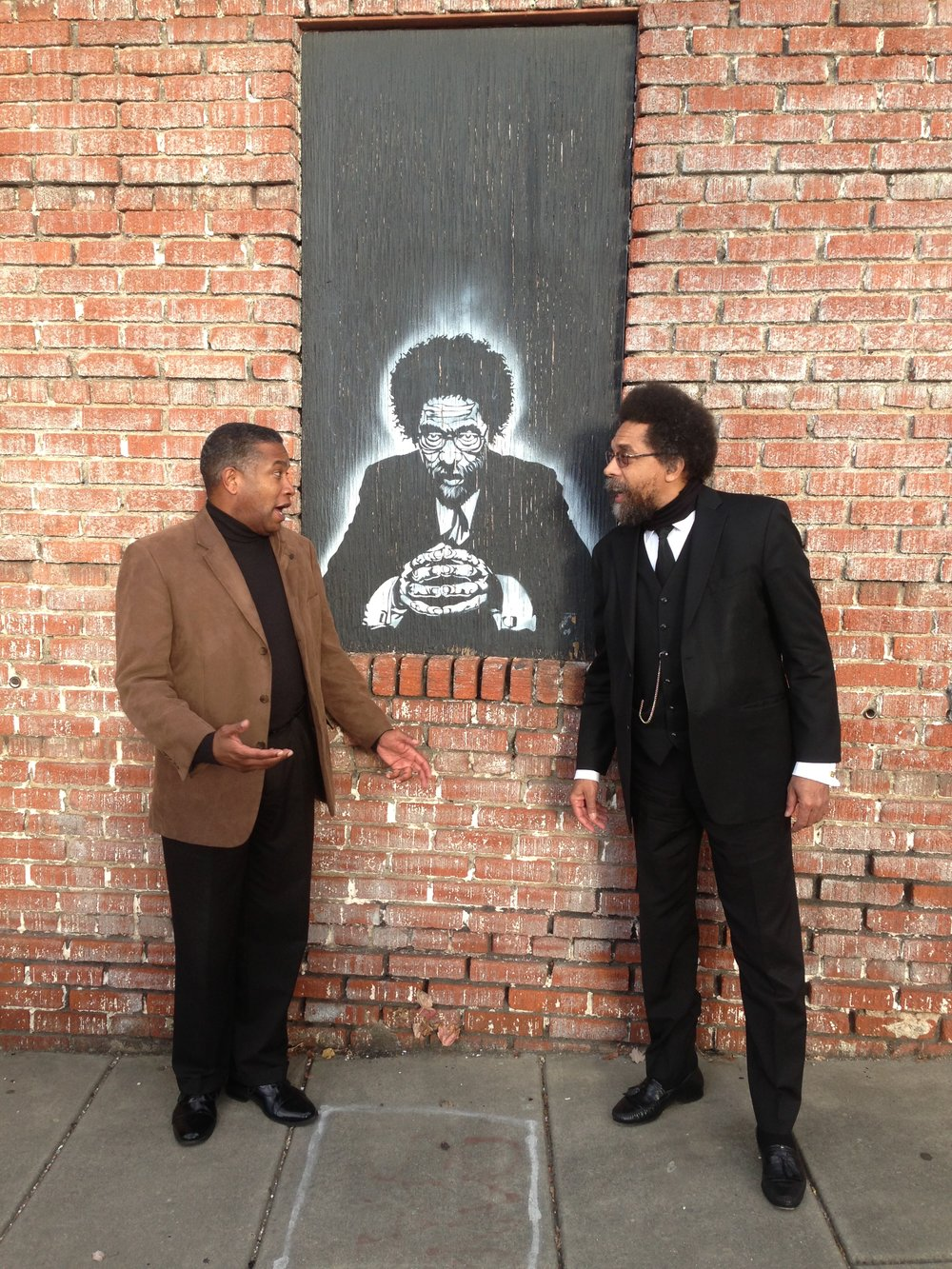 With Cornel West in downtown Asheville
