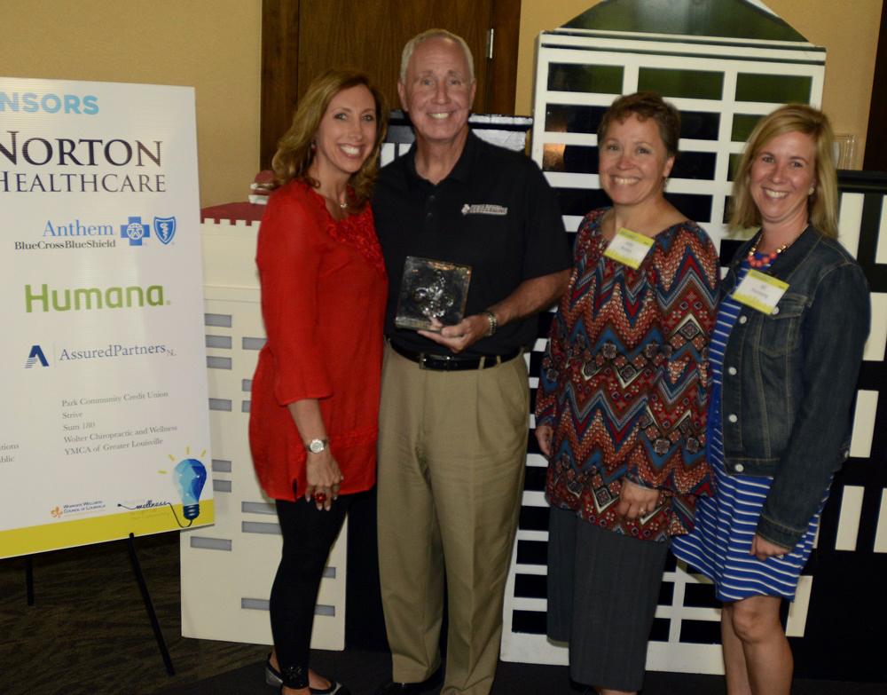 2017 Fleur de Lis Large Company Winners from Baptist Health presented by Scott Davenport