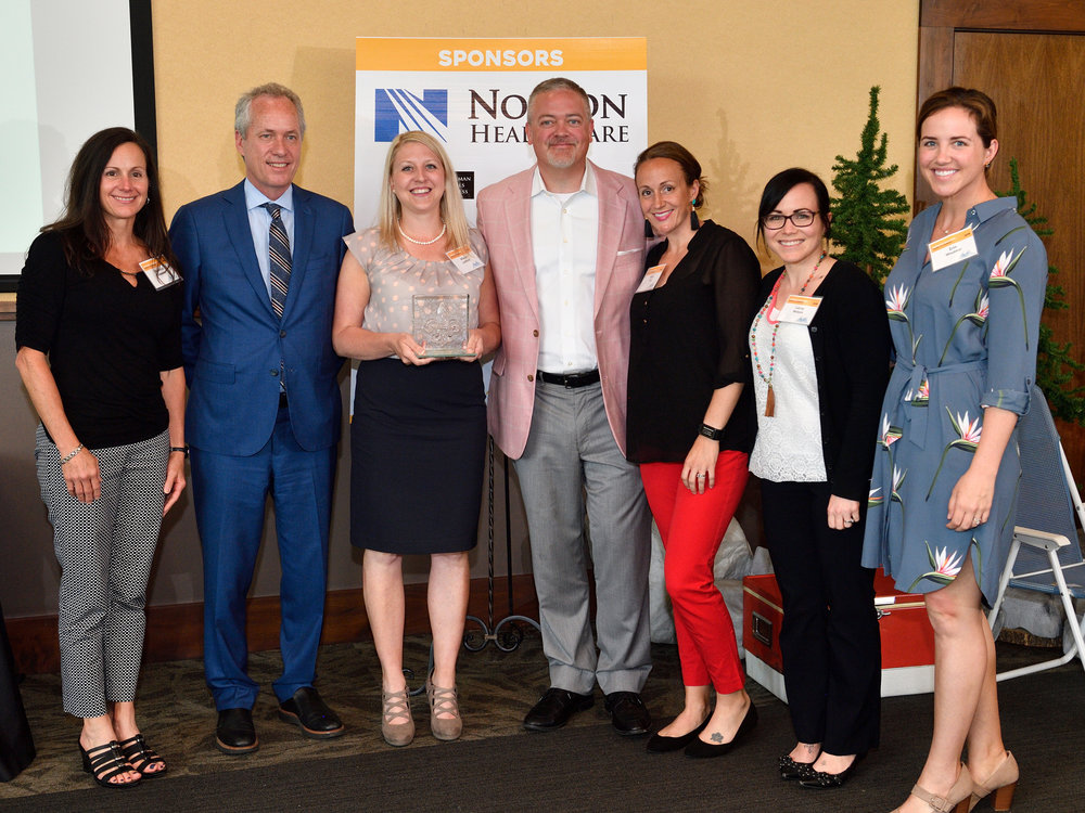 2018 Fleur de Lis Large Company Winners, Norton Healthcare presented by Mayor Greg Fischer