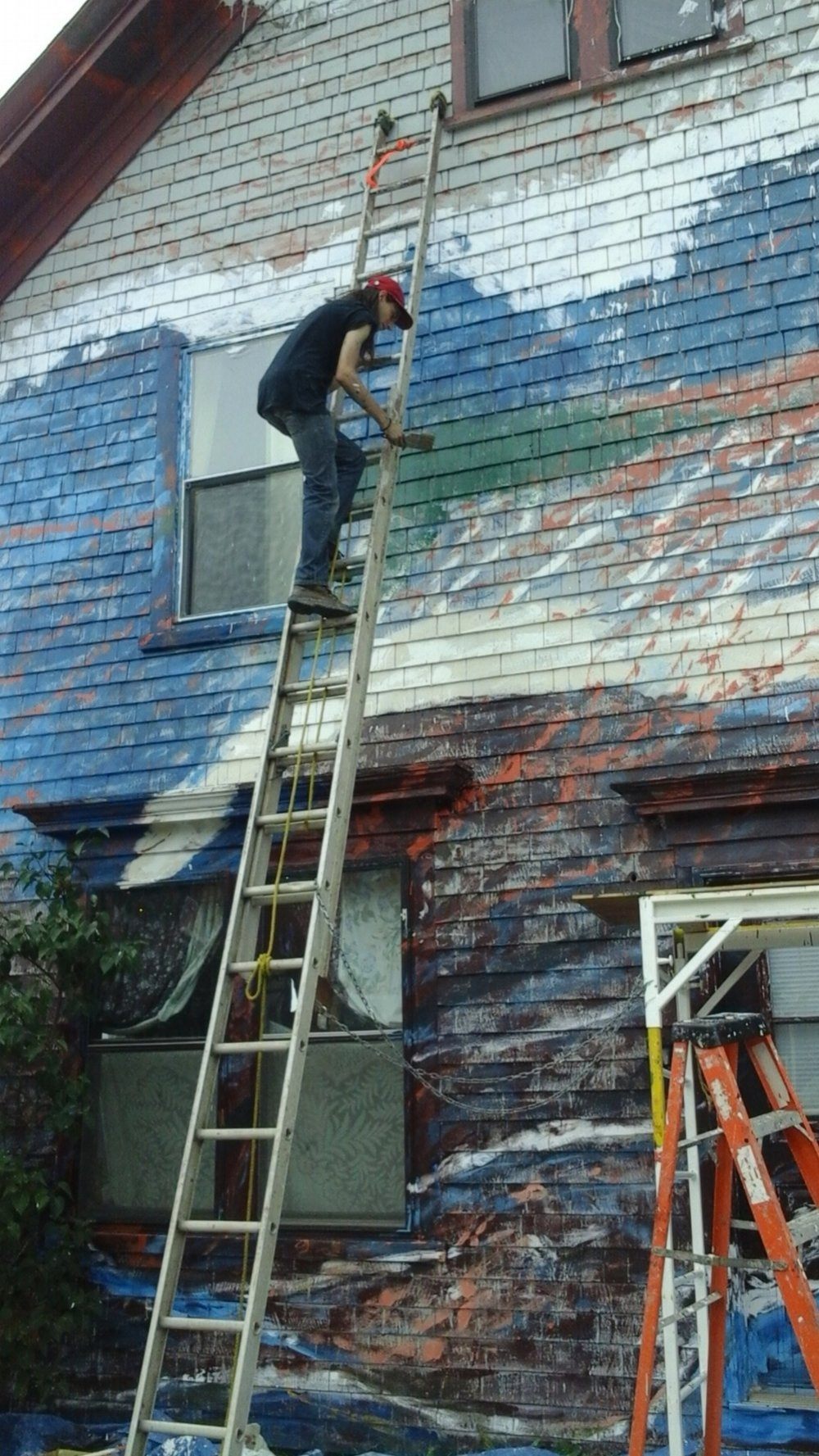 Adam on the ladder