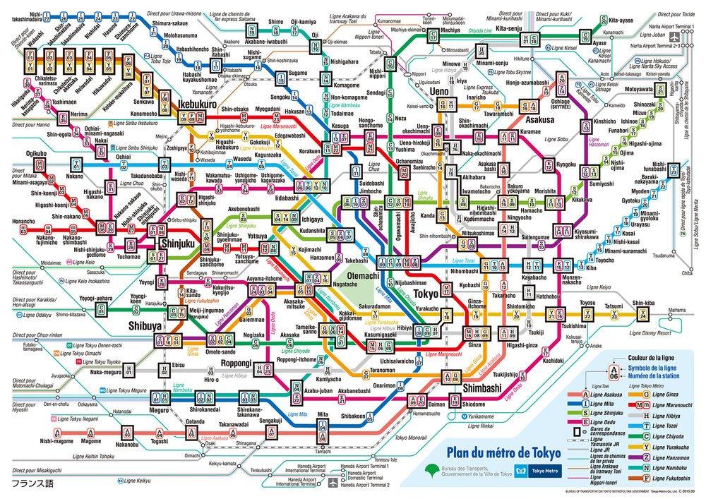 comment se deplacer a tokyo train et metro plan japon asie blog voyage photographie