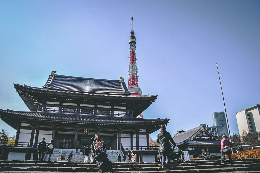 Visiter tokyo une semaine guide par jour par quartier zojoji sanctuaire tour de tokyo japon asie blog voyage photographie