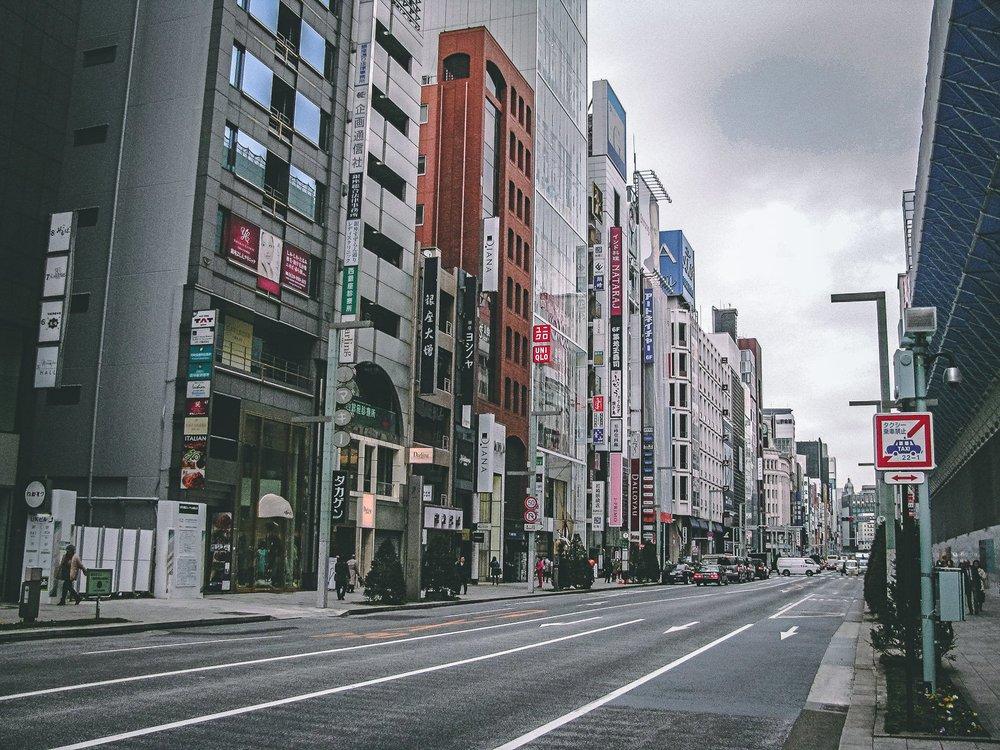 Visiter tokyo une semaine guide par jour par quartier ginza grande avenue japon asie blog voyage photographie