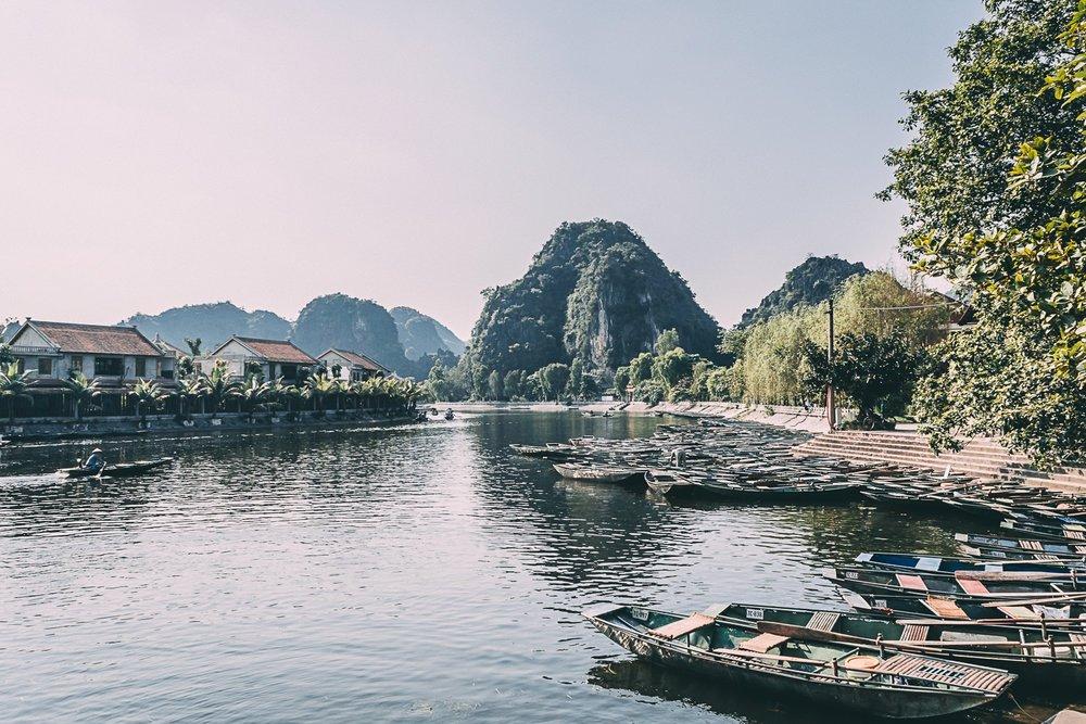 tam coc vietnam baie halong terrestre embarcadere ben thuyen blog vietnam