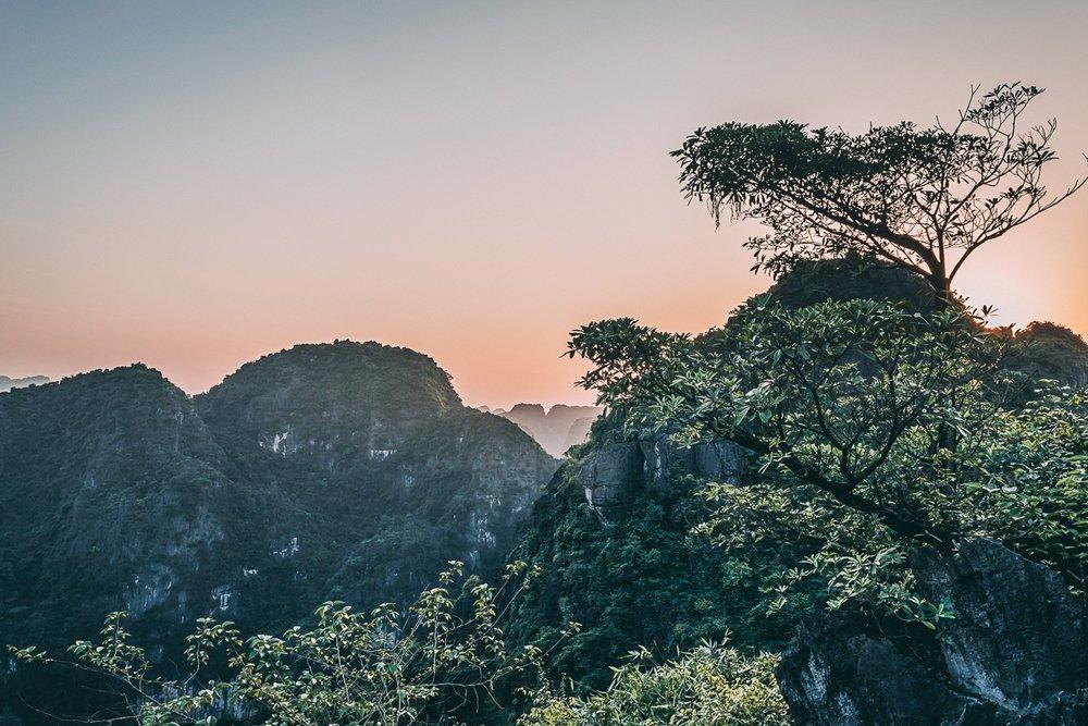 tam coc vietnam baie d'halong terrestre mont hang mua coucher soleil blog voyage vietnam