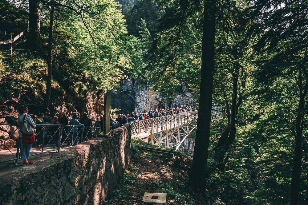 La foule sur le pont de Marienbrücke