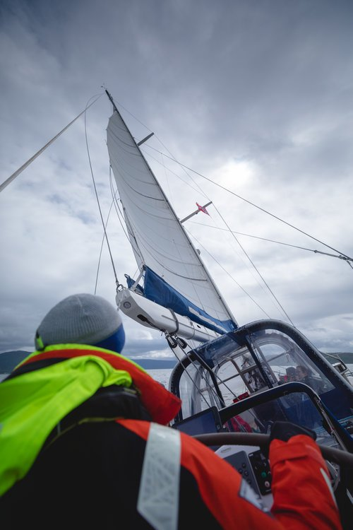 voilier sur les fjords de Norvège