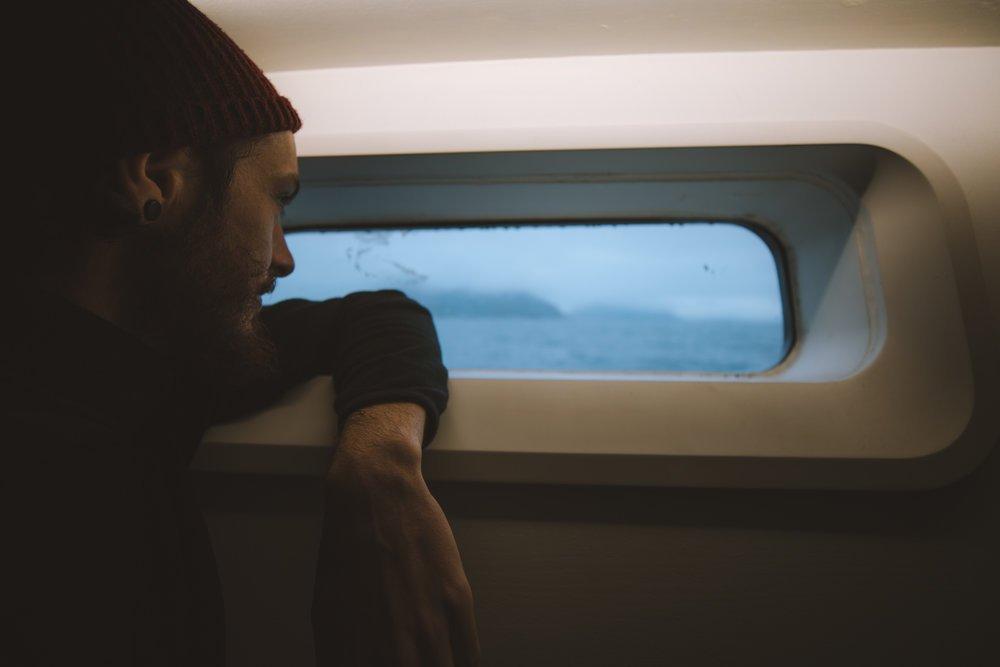 vu du hublot en navigation