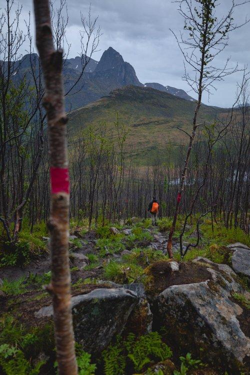 randonner autour d'un fjord