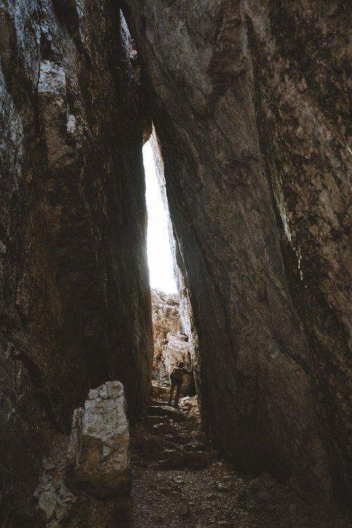 seb en rando dans les montagnes italiennes