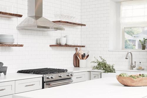 white brick kitchen bachelor pad bureau interior design - Bureau Design