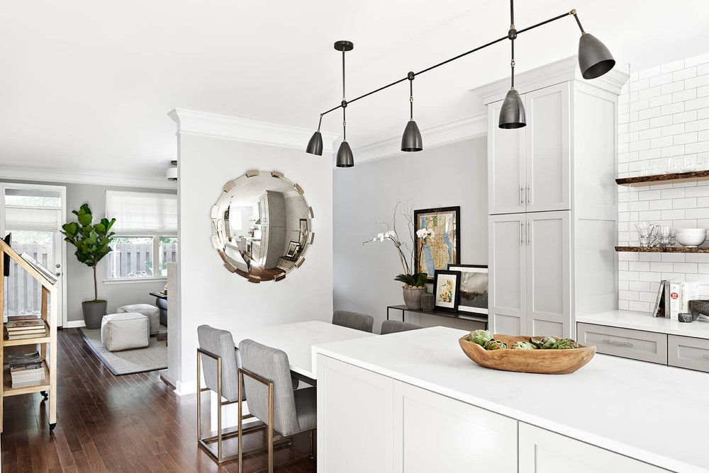 ... White Gray Eat In Kitchen Area Bachelor Pad  ...